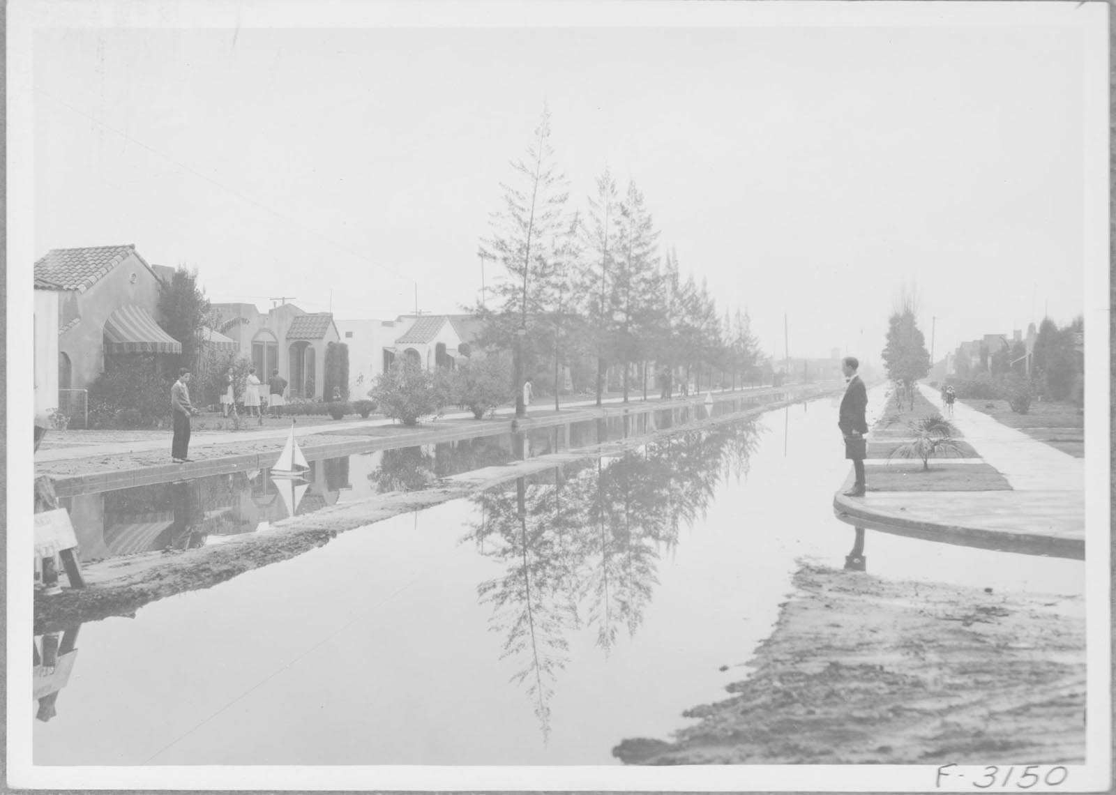 64th St & Harvard after 1.4 Inches of Rain, January 1931.  Courtesy of Los Angeles City Archives, Public Works Right of Way Collection